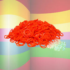 600 Loom Refill Rubber Bands & S-Clips - Pack Of All Orange - Free Shipping