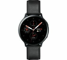 SAMSUNG Galaxy Watch Active2 4G - Black Leather & Stainless Steel 44mm LTE EE