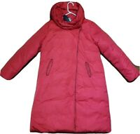 NWT OROLAY Long Down Jacket Coat Snap Button Women's Sz 2XL Red Color -FREE SHIP