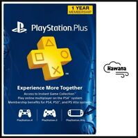 1-Year / 12 Months PlayStation Plus Membership (PS+/PSN) - Sony - PS3/PS4/PS5