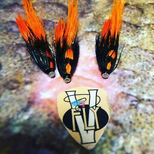 3 V Fly 3/4 Inch PBP Tiger Shark Shrimp Copper Salmon Tube Flies with Trebles