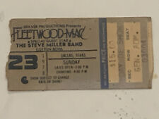 Rare Fleetwood Mac & Steve Miller Band 7/23/78 Dallas Tx Cotton Bowl Ticket Stub