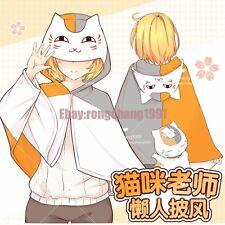 Hot Anime Natsume Yuujinchou Cat Cosplay Cloak Plush Soft Blanket Shawl 0.7x1.5m