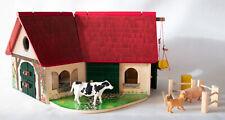 Woodfriends Bauernhof Farm Holz mit Zubehör Landwirtschaft Spielen mit Tieren