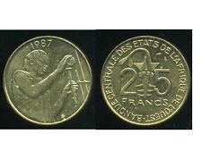 ETATS DE L'AFRIQUE DE L'OUEST  25 francs 1987  ( SUP )