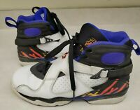 Nike Air Jordan 8 Retro Sneakers 305368-142 Multicolor White Black Purple Youth6