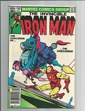 Iron Man #163 Vf+ Very Fine + Bronze Age Marvel Comics 1982
