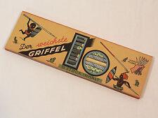 1 PACKUNG MIT 10 STÜCK SCHIEFERGRIFFEL STEINACH GRIFFEL HAND-MARKE UM 1930