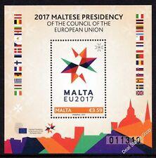 Malta 2017 Maltese Presidency Of The Council Of European Union EU Unmounted Mint