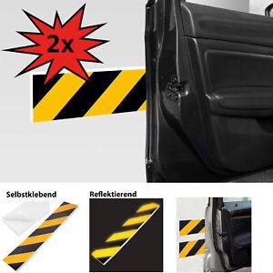 2x Garagen Wandschutz Schutzleiste KFZ Auto Türkantenschutz Dick & Reflektierend