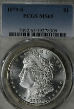 Gorgeous 1879-S Uncirculated Morgan Silver Dollar!  PCGS MS65!!