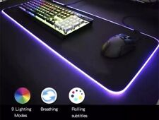 LED Large Gaming Mouse Pad RGB Oversized Glowing 7 Colors 31.5X12'' Waterproof