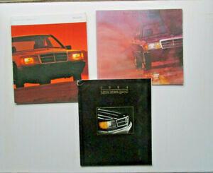 MERCEDES  USA   lot de 9 catalogues  1984 . 1985 . 1986 . 1987