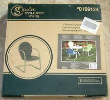 "Garden Treasures Living Children Sized Metal Retro Chair Yellow 24""X15""X19 New!"