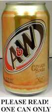 """A&W Cream Soda """"Blast from the Past"""" FULL NEW 12oz 355ml Can Dr. Pepper 7up 2012"""