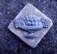 """Plaster cement fruited urn plastic travertine tile mold 4/"""""""