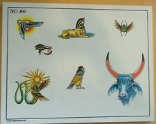 2002 Don Nolan Spaulding & Rogers Color Tattoo Flash Sheet Nc-86 Scarab Sphynx
