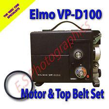 ELMO VP-D100 8mm Cine Projector Drive Belts Set of 2