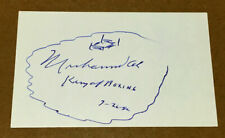 "AUTHENTIC MUHAMMAD ALI AUTOGRAPHED 3x5 CARD with ""KING OF BOXING"" & RING SKETCH"