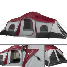 Instant Camping Cabin Tent For 10 Person 3 Rooms Family Outdoor Hiking Shelter