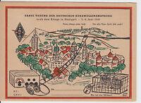 """Farbige Karte - """"Erste Tagung der deutschen Kurzwellenamateure"""" Stuttgart 1947 !"""