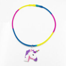 Fashion Unicorn Pendant Silicone Necklace Clavicle Chain Charm Jewelry Gifts Acc