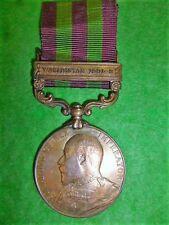 "India General Service Medal 1895, ""Waziristan 1901-2"" in Bronze to 23rd Pioneers"