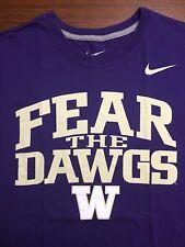 Nike Better World Uw Washington Huskies Fear The Dawg Large Purple T-Shirt *Euc!