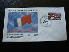 FRANCE - enveloppe 21/12/1990 27e congres du PCF (cy7) french (C)