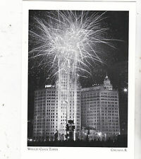 "~Post Card~""Wrigley Clock Tower"" /Mile Lights Festival/ *Chicago (A85-2)"