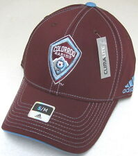 MLS Colorado Rapids Burgundy Structured Fitted Hat By adidas, Size S/M