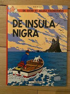 - DE INSULA NIGRA - BD - TINTIN - 10/1987- Ile noire - Edition en latin
