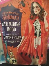 adult halloween costume (red riding hood and cape )  size 8-10