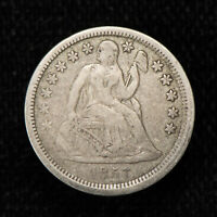 1857 10c SEATED LIBERTY DIME, ORIGINAL FINE/VF COIN LOT#T738