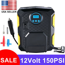 120W Portable Tire Inflator Car Air Pump Compressor Electric Auto 12V 150 PSI