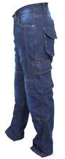 Pantaloni blu con imbottitura rimovibile per motociclista