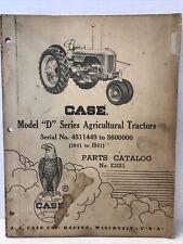 Case Va Series Model D Series Tractors 1941 1951 Parts Catalog