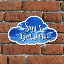 Personalised Printed Cloud Childrens Bedroom Door Acrylic Plaques