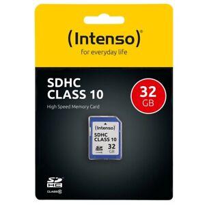 Intenso SD Karte Speicherkarte 32GB Class 10 SDHC C10 Memory TF Card Adapter NEU