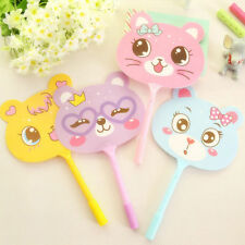 5Pcs Fun Cartoon Pretty Animal Hand Fan Ballpoint Pens Creative Stationery Gifts