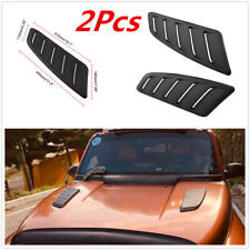 2pc Universal Black ABS Plastic Car Air Flow Intake Scoop Bonnet Vent Hood Cover