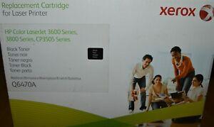 Xerox HP Q6470A Black Toner Print Cartridge CP3505 3600 3800 SEALED