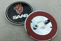68mm Auto hinten Hood Emblem Aufkleber Abziehbild Abzeichen Black Logo für SAAB