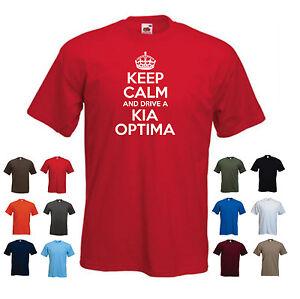 'Keep Calm and Drive a Kia Optima' Men's Car Birthday Gift Funny t-shirt