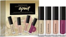 bare Minerals * Something To Talk Apout * 4pc Mini Moxie Plumping Lipgloss Set