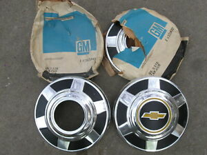 "Vintage 1970's 1980's 1990's Chevy Pickup 4x4 Hub Caps Set of 4 NOS 12"" Diameter"