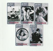 (5) Rare Clara Bow Phone Cards