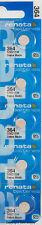 5 pcs 364 Renata Watch Batteries SR621SW FREE SHIP 0% MERCURY