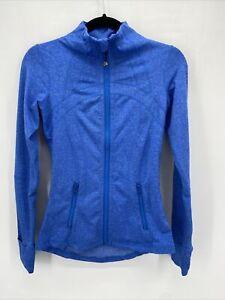 Lululemon Blue Zip Pocket Thumbhole Full Zip Define Jacket Size 4
