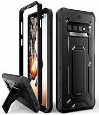 For Samsung Galaxy S10 PLUS Case Military Grade Full-Body Kickstand BLACK
